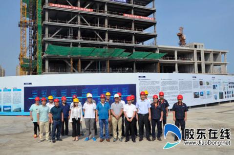 山东首个装配式钢结构公建项目封顶 工期仅89天