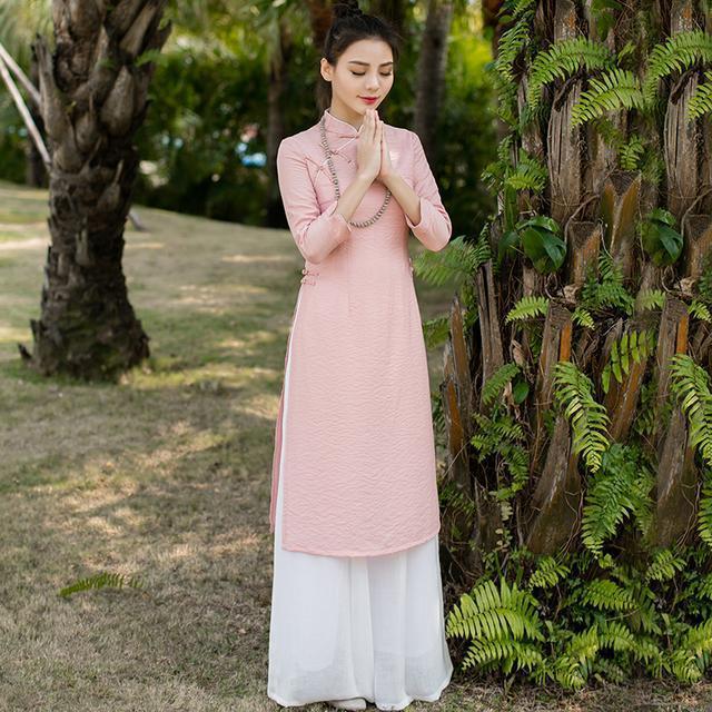"""姑娘不要穿韩版了, """"改良汉服""""才是17年的流行趋势, 优雅大方 3"""