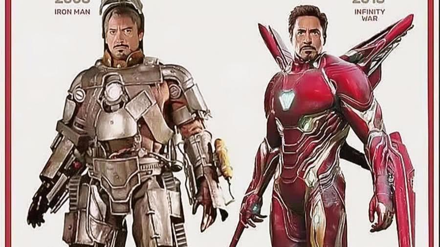 钢铁侠像捡破烂, 美队变邋遢大叔 漫威超级英雄十年前后对比,