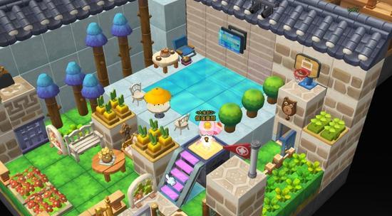 冒险岛2玩家自制diy小别墅,可爱的设计已经迫不及待想让小伙伴来家里