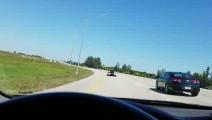 3.0V6雅阁高速公路偶遇道奇蝰蛇 使出吃奶劲依然被越甩越远