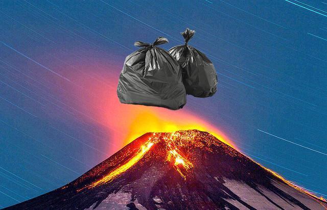 美国科学家认为 垃圾打包可扔火山里烧毁?