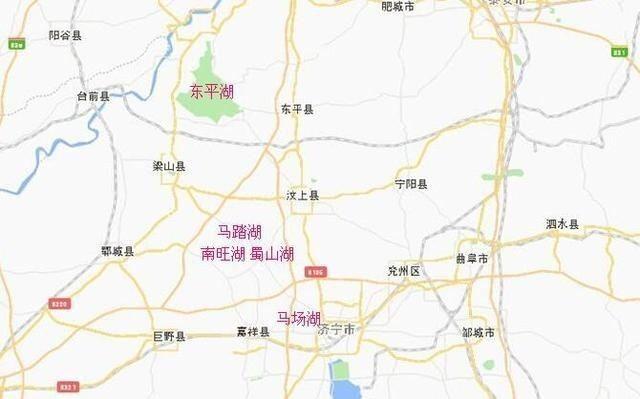 南四湖地图展示