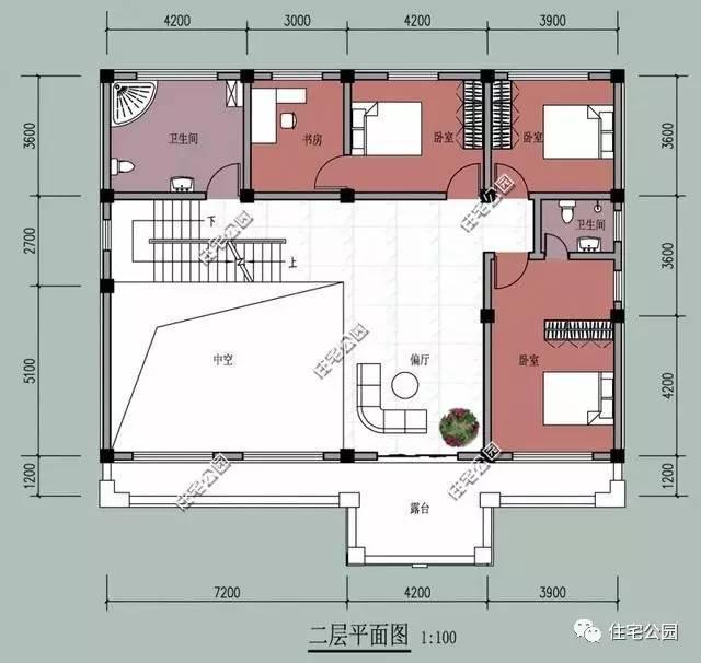 15x12米3层农村别墅, 挑空客厅带堂屋, 这才是农村房!
