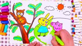 儿童故事画 小猪佩奇去动物园
