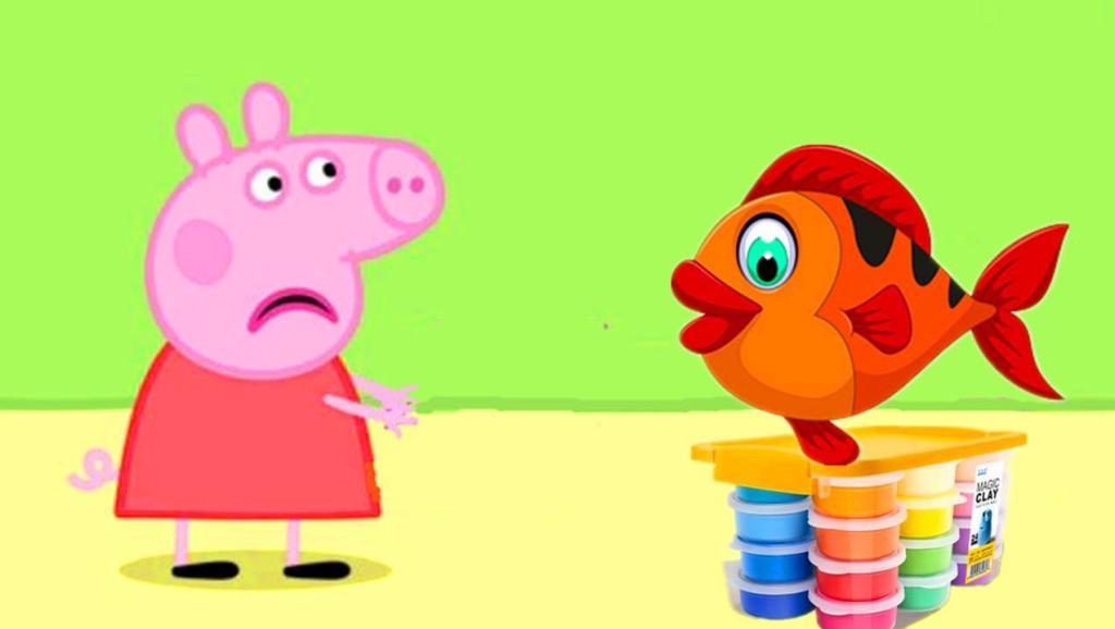 打开 粉红猪小妹的小朋友们一起用彩泥手工制作一条小鱼 打开 3块钱