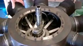 9缸星型发动机的内部构造, 有点像老式飞机发动机