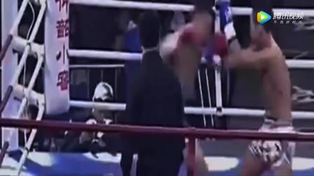 不服气的韩国拳手再次来中国送死,直接遭到小伙暴打休克!