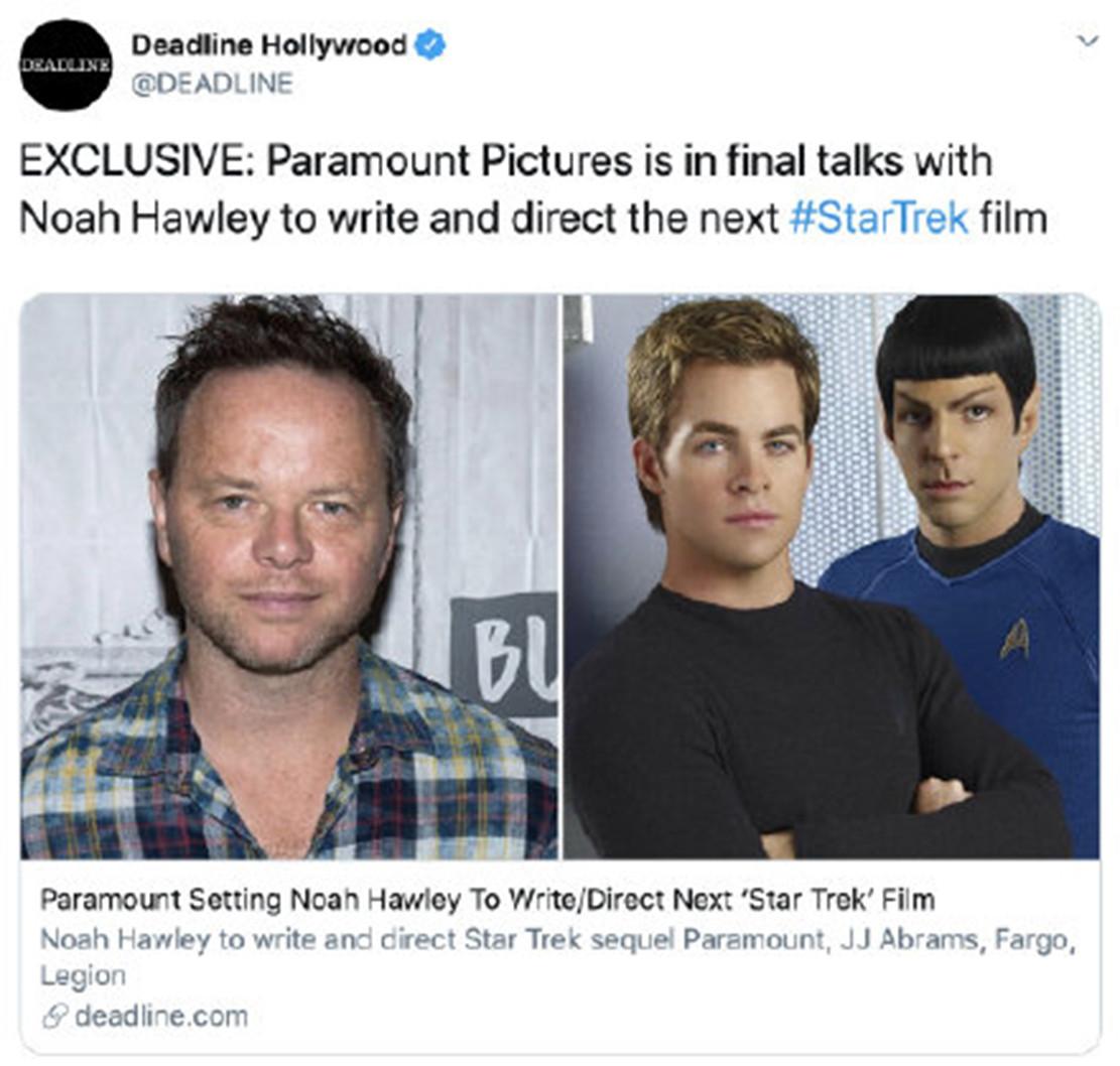 終於有新進展了! 停滯3年的《星際迷航4》迎來新導演
