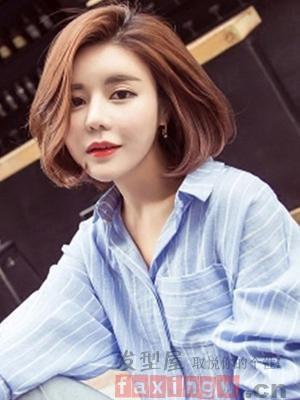 韩版中分短发发型 减龄又修脸