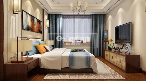 昆明华夏御棠小区, 140㎡房子装修设计简约新中式风图片