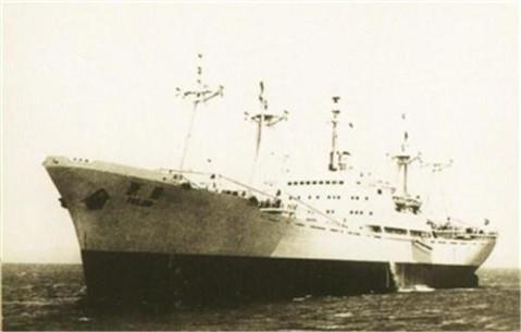 新中国第一艘远洋巨轮首航沉没 日方称遭到鱼雷攻击
