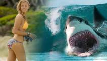 20岁的爱冒险美女,冲浪偶遇鲨鱼,全程紧张刺激。