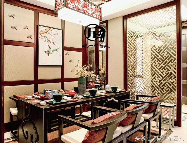 150平中式风格实景设计分享之琴房一角