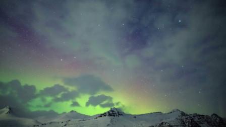 北极光芒景观 led高清视频背景素材 极光风光风景实拍