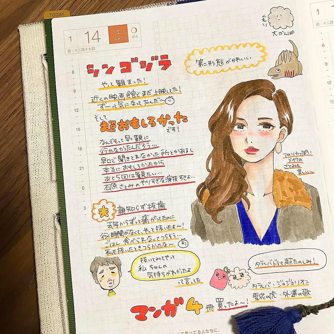 日本女孩的时尚ほぼ手绘日记: 每天的手帐都像日杂穿搭单元!