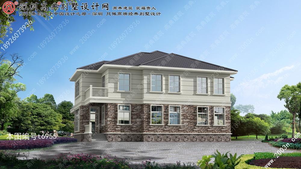 农村二层房屋设计图首层265平方米