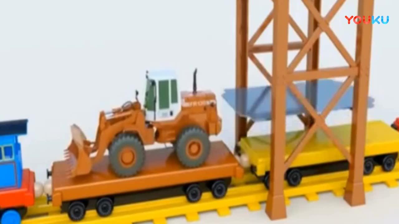 托马斯和他的朋友运挖掘机 卡车 推土机 玩具车消防车.mp4