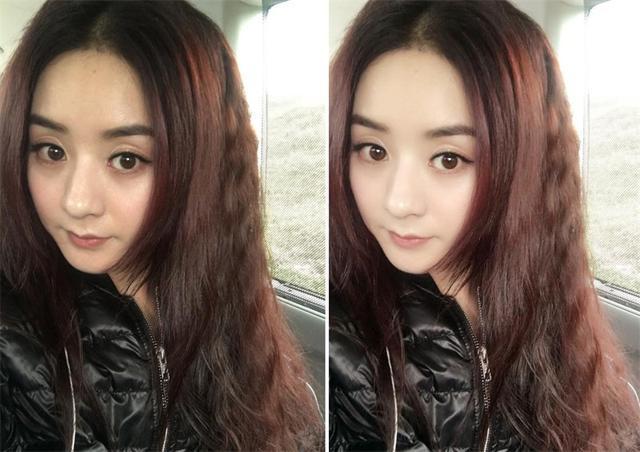 今天赵丽颖微博嗮出卸妆后的图片