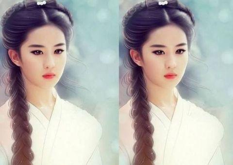 3d版女星照, 迪丽热巴五官精致, 赵丽颖柔情似水