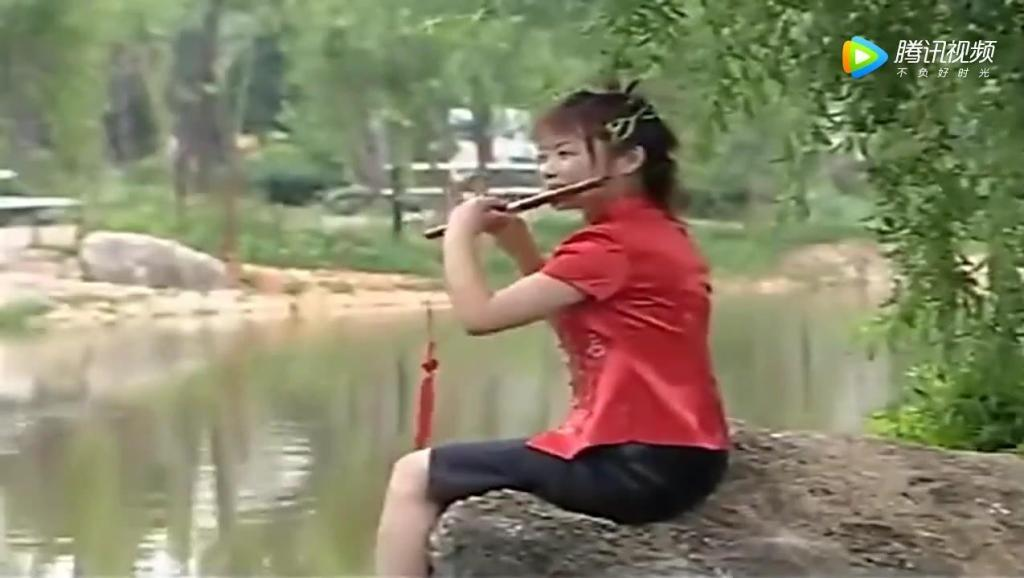 渔家姑娘在海边 李贵中演奏 笛子