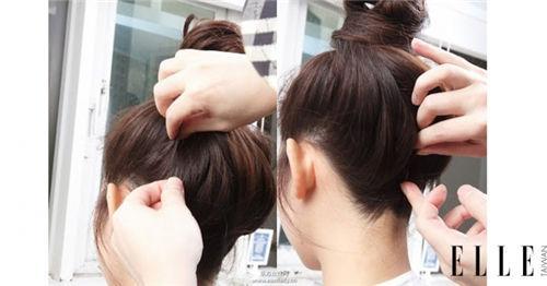 丸子头步骤5:夹出完美后脑杓