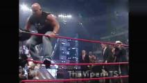史蒂夫奥斯汀嘴炮练口才,WWE总裁在一旁幸灾乐祸被揪领带打击