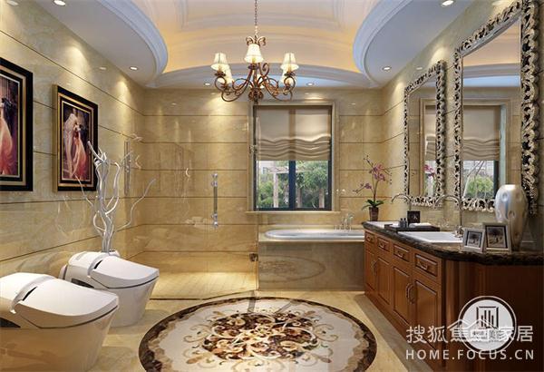 无锡别墅装修-金色水岸380平欧式古典装修效果图