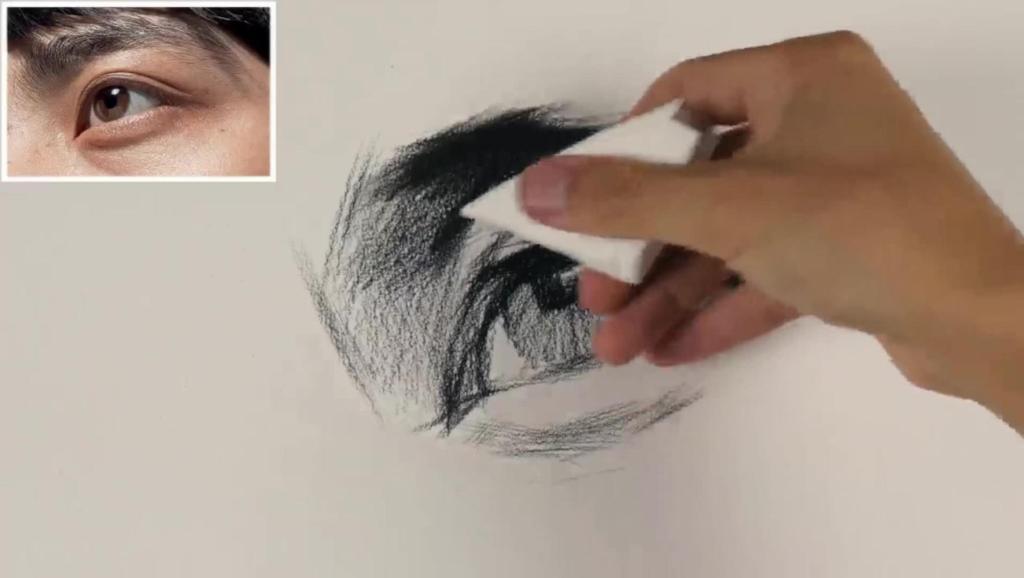 打开 素描头发的画法步骤图 写生速写人物 绘画初学者入门教程 打开
