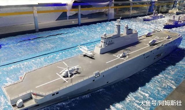 中国又一艘海上巨无霸现身, 排水量达4万吨, 西方: 难怪底气十足