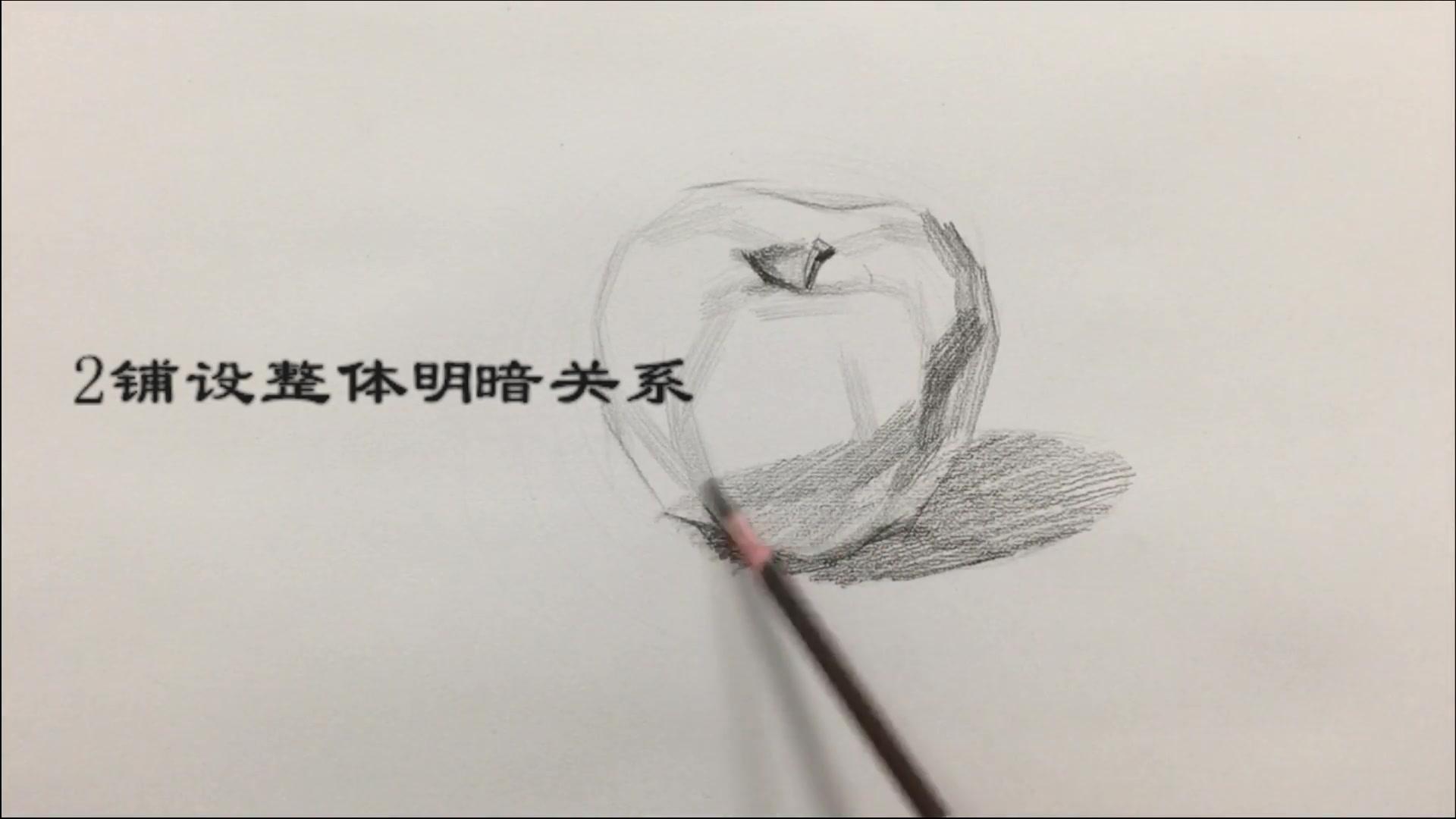 打开 长春青鸟画室素描静物火龙果视频教学美术高考绘画 画画 素描