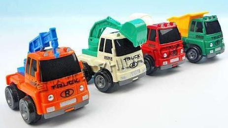 赛车总动员 挖土机 推土机 消防车 汽车总动员 挖掘机动画片 极速竞赛