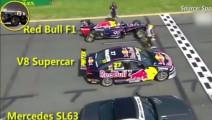 当F1、超跑和豪车同时出现在赛道上,F1赛车瞬间把他们秒成渣
