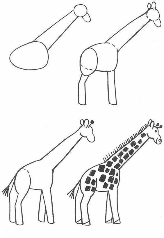 儿童简笔画长颈鹿_长颈鹿简笔画