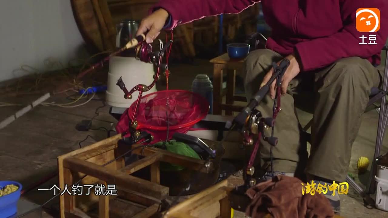 游钓中国 李大毛钓鱼钓到大鱼, 自己没力, 鱼也没力了