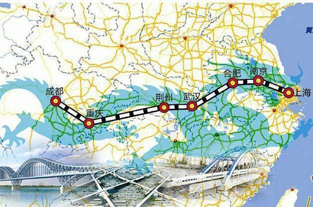 投资1800亿高铁新规划出炉, 串联长江4个 新一线城市