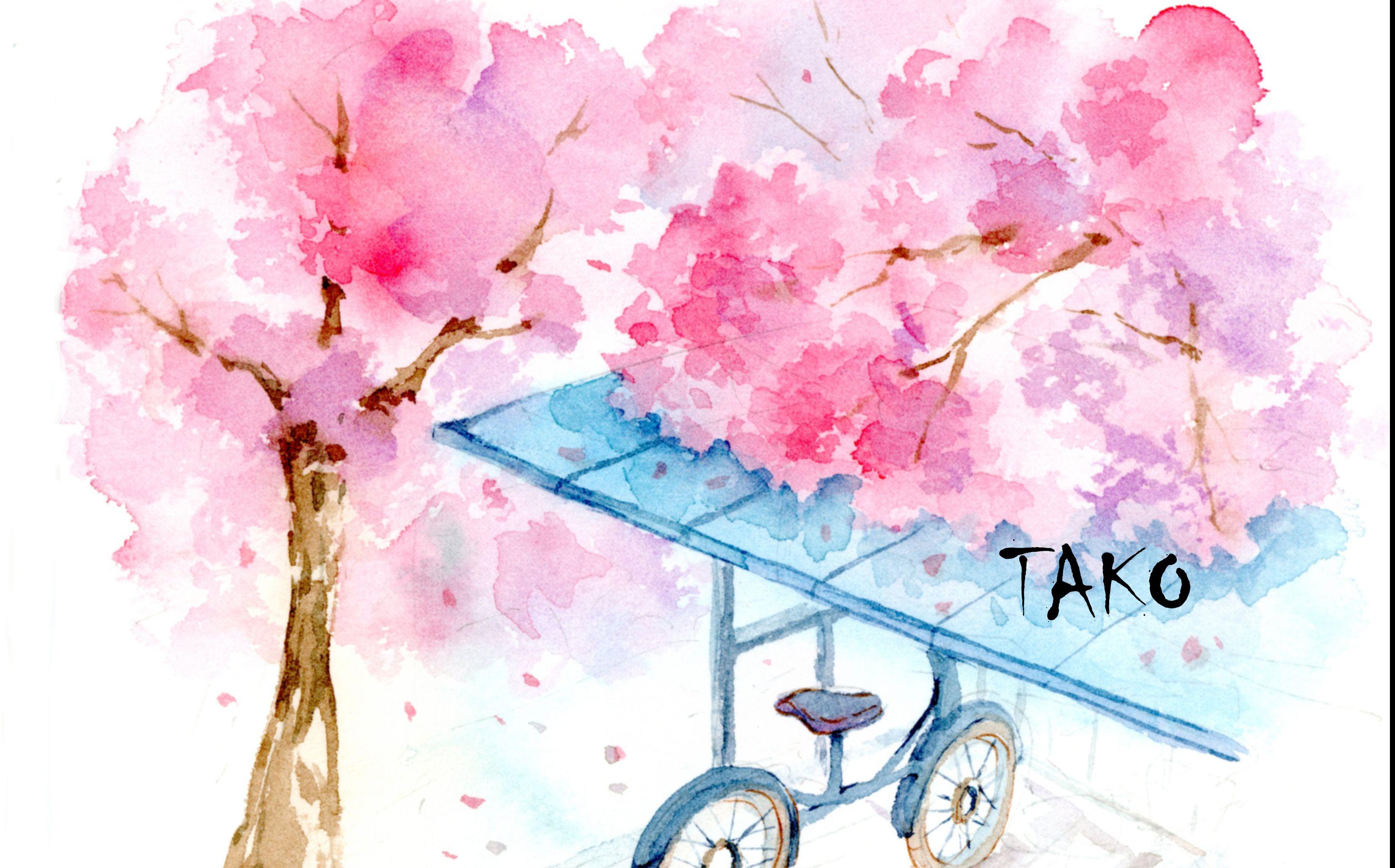 打开 打开 水彩画教程: 樱花树下的告白-小清新颜色调色推荐 打开