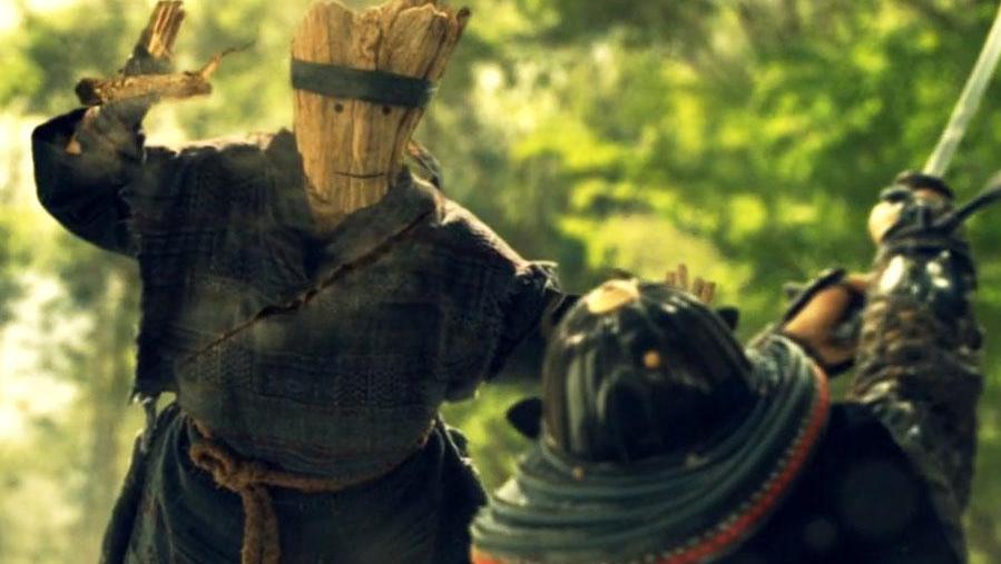 日本忍者的忍术太牛,瞬间化形成木头人分散敌人注意力