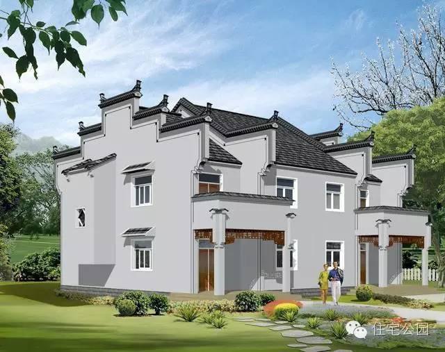 中式农村自建房, 15x13米双拼别墅, 两种设计最爱哪个