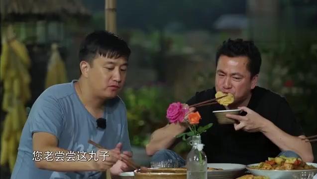 黄磊大厨做的菜色香味俱全,吃的人都是满满的幸福感,谢娜 好吃哭