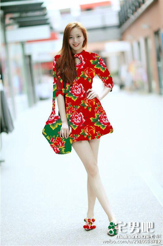 图文并茂: 安徽芜湖94年模特董蕾腿长1.15米破世界纪录 美图欣赏