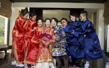 张玮巴厘岛浪漫婚礼, 1岁女儿意外当花童