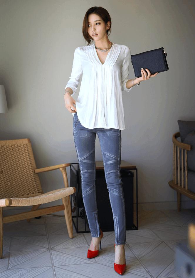 妹子巧搭不同风格的牛仔裤, 散发迷人的气质 6
