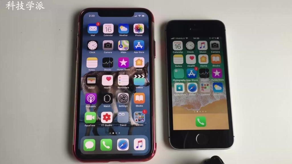 iPhone X和iPhone SE速度比拼