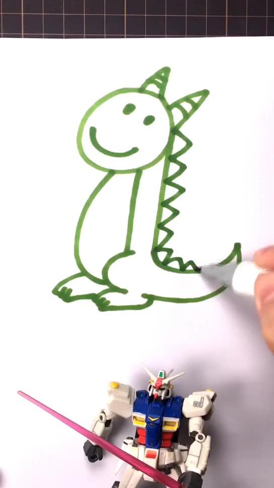 [小林简笔画]绘画奥特曼家族中的赛罗奥特曼卡通q版简图片