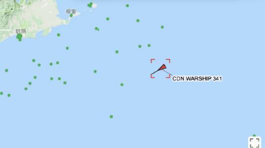 加拿大舰遭大批舰机围堵, 特鲁多抱怨黄海成禁地 18日午夜12时,