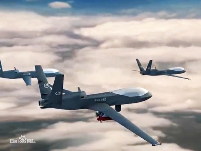 型無人機機翼下有4個掛點,最多可懸掛6枚武器,最大載彈量可達400公斤圖片