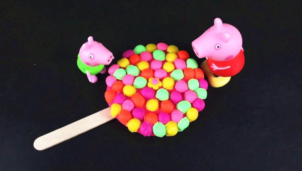 培乐多五彩冰淇淋 棒棒糖制作 彩泥橡皮泥玩具