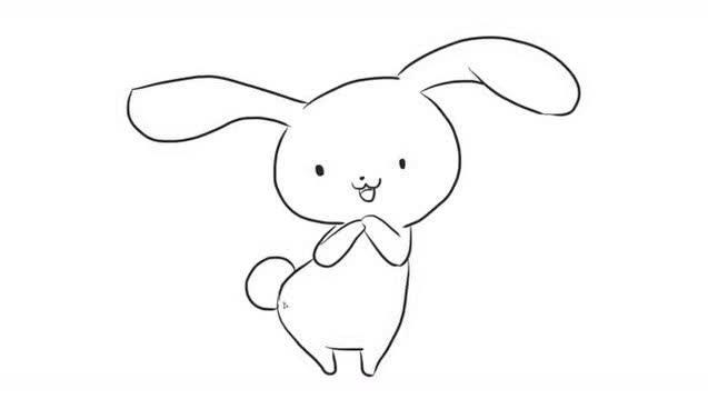 小兔子乖乖爱吃胡萝卜 宝宝爱涂色儿童简笔画视频教程大全亲子小游戏