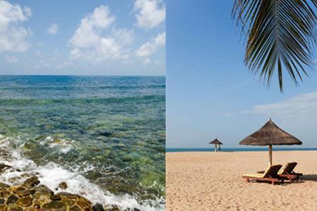 在蜈支洲岛有很多度假使用的小木屋,别墅以及各种休闲娱乐的地方.